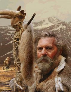 Impression of one of the Ice Age modern humans analyzed. (Stefano Ricci) Ice Age Europeans had some serious drama going on, according to their genomes - The Washington Post Panthera Leo Spelaea, Prehistoric Man, Anthropologie, Primitive Survival, Early Humans, Human Evolution, Ice Age, Founding Fathers, Genetics