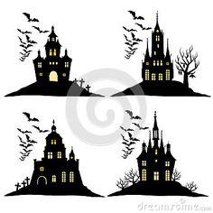 Afbeeldingsresultaat voor silhouet spookkasteel