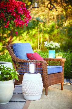 Choose a patio set with plenty of options to make your patio exactly what you want it to be. The Spring Haven Brown Collection, seen here, offers 16 different fabric colors and plenty of coordinating outdoor accessories and accents. See all our customizable outdoor furniture collections at The Home Depot.