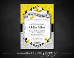 What'll It Bee Baby Shower Invitation by StudioYniguez on Etsy