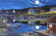 Beautiful Newfoundland artwork captured by artist Dave Hoddinott Sun Drawing, Most Popular Artists, Newfoundland And Labrador, Canadian Art, Local Artists, Artist Painting, Landscape Art, Photo Art, Illustration Art