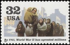 Stamp: World War II - Refugees (United States of America) (World War II) Mi:US 2622,Sn:US 2981g,Yt:US 2412