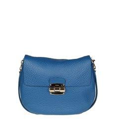 FURLA FURLA WOMEN'S  BLUE LEATHER SHOULDER BAG. #furla #bags #shoulder bags #leather #