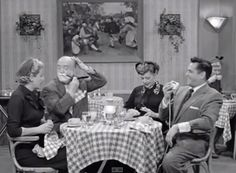 When Lucy & Ethel demand equal rights from Ricky & Fred, the men think how to get back at them at a restaurant. [I Love Lucy] Funny Movies, Funny Me, I Love Lucy Show, My Love, I Love Lucy Episodes, Famous Clowns, William Frawley, Funny Anecdotes, Vivian Vance