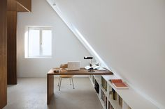 Prodigious Tips: Attic Loft Balconies attic loft drawers.Old Attic Room attic bar slanted ceiling. House, Low Ceiling, Loft Conversion, Small Spaces, Interior, Home, Attic Rooms, Home Office Design, Office Design