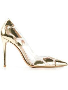 GIANVITO ROSSI Sapato Dourado
