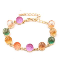 Pastel And Candy Color Crystal Charm Bracelet