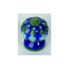Atlas Homewares Blue/Green Fluted Ceramic Kitchen Cabinet Knob....I doubt it but I love the colors
