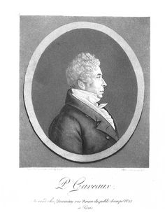 Portrait de Pierre GAVEAUX (9 août 1761 à Béziers - 5 février 1825 à Paris) - chanteur et compositeur français - sociétaire de l'Opéra Comique à partir de 1801 - compositeur maçonnique. Portrait dessiné au physionotrace et gravé en 1821 par Edme Quenedey des Riceys (1756-1830) - à Paris rue Neuve des petits champs n°15.