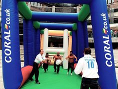 inflatable field goal enclosure