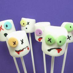 Wonderfully fun zombie marshmallow pops. @Kathleen Saraceno Allen