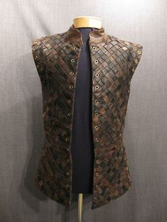 leather patchwork doublet