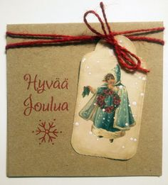 Joulukortti Xmas Cards, Christmas Ornaments, Holiday Decor, Home Decor, Christmas E Cards, Christmas Cards, Decoration Home, Room Decor, Christmas Jewelry