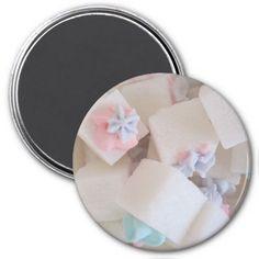 Decorated Sugar Cubes Refrigerator Magnets #zazzle #magnet #sugar