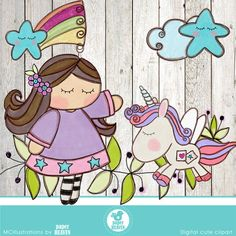 Lindo unicornio cliparts uso comercial OK por MCIllustrations Unicorn Art, Cute Unicorn, Rainbow Unicorn, School Scrapbook, Cute Clipart, Modern Cross Stitch Patterns, Unicorn Birthday Parties, Altered Books, Doodle Art