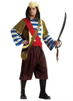 Manly Pirate Costume