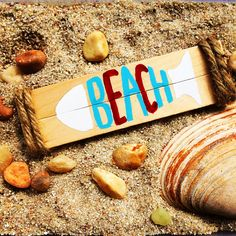 Get those last summer fun days in while you can and make this adorable little beach sign with SimplyArt Square End Craft Sticks Craft Sticks, Craft Stick Crafts, Beach Signs, Summer Fun, Wood Projects, Canning, Day, How To Make, Summer Fun List