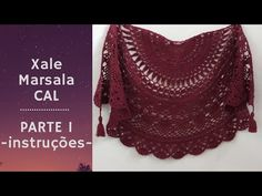 Xale Marsala crochê - Instruções - Parte 1 - YouTube Crochet Cape, Crochet Shawl, Snow Flower, Poncho Shawl, Marsala, Easy Day, Bolero Jacket, Crochet Videos, Knit Patterns