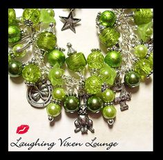 St Patricks Day Jewelry - Luck Of The Irish Charm Bracelet - St Patricks Day Bracelet - Shamrock Jewelry - Clover Jewelry on Etsy, $50.00