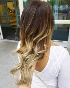 Blonde balayage with ombre by Mark South
