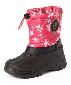 Another great find on #zulily! Raspberry Snowflake Snow Boot #zulilyfinds