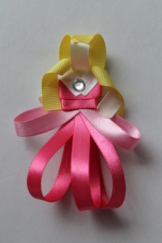 Sleeping Beauty Inspired Hair Bow by MonkeyMoodleBowtique on Etsy, $6.99