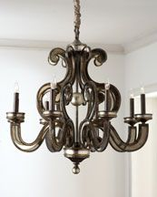 John-Richard antique mirror chandelier