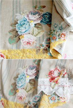 the linen garden - cafe curtains, handmade