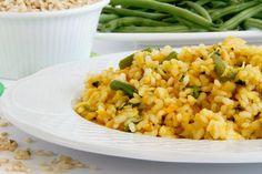 Arroz integral con verduras - MisThermorecetas Caviar D'aubergine, Empanadas, Sin Gluten, Fried Rice, Allrecipes, Tapas, A Food, Healthy Life, Health Fitness
