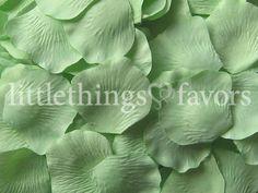 Mint Green Silk Rose Petals Celadon Green by LittleThingsFavors