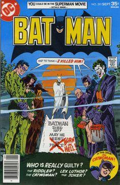 Another top notch Jim Aparo art cover for DC Comics; Death of Batman mystery 6 parter. Back in the day, this was some heavy stuff! Batman Comic Books, Comic Books Art, Comic Art, Joker Comic, Joker Art, Im Batman, Superman, Caricatures, Univers Dc