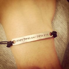 Where there's a will there's a way silver macrame by AroundMyWrist, 11.95