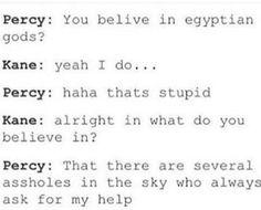 Percy Jackson Quotes, Percy Jackson Fan Art, Percy Jackson Books, Percy Jackson Fandom, Book Memes, Book Quotes, Percy Jackson Crossover, Greek Memes, Oncle Rick