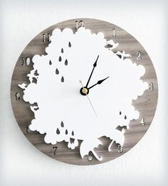 Rain Day Wall Clock | Home Decor | iluxo Jewelry and Design