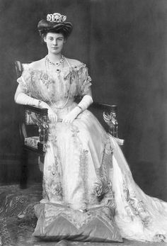 Crown Princess Cecilie of Prussia, spouse of Wilhelm, Crown Prince of Germany (Grandson of Victoria, Princess Royal).