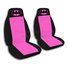 Hot Pink and Black Batman Car Seat Covers