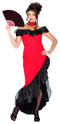 Flamenco Dancer Costume - Mexican or Spanish Costumes