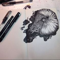 Moleskine — Artwork by @_amber_june_. #moleskine_arts #art...