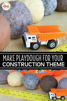 Make the best playdough for your construction theme sensory activities. Find directions to make brown, gray, and dirty playdough and many fun mix-in ideas. Playdough Activities, Preschool Activities, Learning Centers, Early Learning, Construction Theme Preschool, Best Kids Watches, How To Make Brown, Healthy Kids, Healthy Snacks
