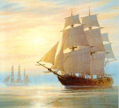 Roger Desoutter 1923 | British Maritime painter | Tutt'Art@ | Pittura * Scultura * Poesia * Musica |
