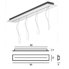 Foscarini Rosone linéaire multiple de 90 cm