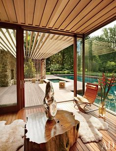 A Contemporary Connecticut Poolhouse by SPaN Architects Photos | Architectural Digest