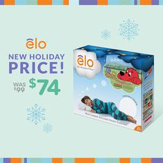 elo™ Pillow helps kids stay in bed and fall sleep faster by playing bedtime stories and nature sounds. It pauses when they get up, to encourage them to lie back down. Special Holiday Price for Limited Time!