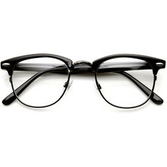 Vintage Optical RX Clear Lens Half Frame Glasses 2946 49mm ❤ liked on Polyvore featuring accessories, eyewear, eyeglasses, clear eyewear, half-frame glasses, vintage glasses, vintage eyeglasses and clear eyeglasses