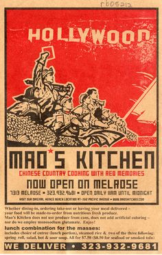 Hollywood Mao's Kitchen  2009. @Anna Fadem remember the Venice one?