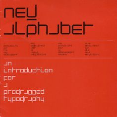 Wim Crouwel / New Alphabet / Book / 1967