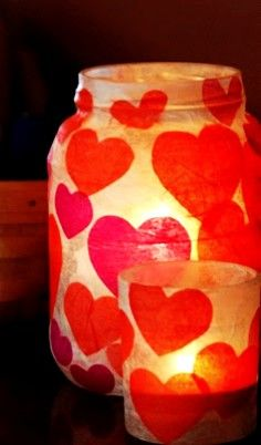 Homemade Serenity: Why Don't You Make Valentines Day Votives? 2014 Valentine's Candle Jars