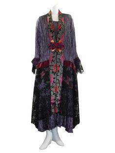 Lee Andersen Plus Size Tres Amethyst 2 Pc. Set Dress/Duster Holi Heraldry Duster/Dress