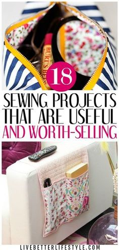 18 Easy Useful Sewing Projects : sewing projects that are useful and you can sell Here's my collection of the best free sewing patterns & tutorials from the web. These easy and useful sewing projects will help you to organize your house! Sewing Hacks, Sewing Tutorials, Sewing Crafts, Sewing Tips, Diy Gifts Sewing, Diy Crafts, Tutorial Sewing, Sewing Art, Sewing Blogs