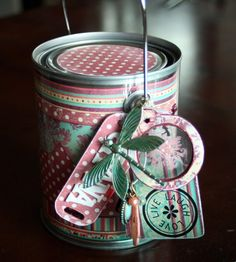 Gorgeous decorated paint tin